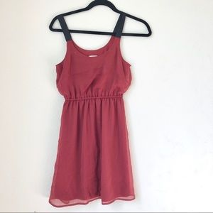 Maroon summer dress